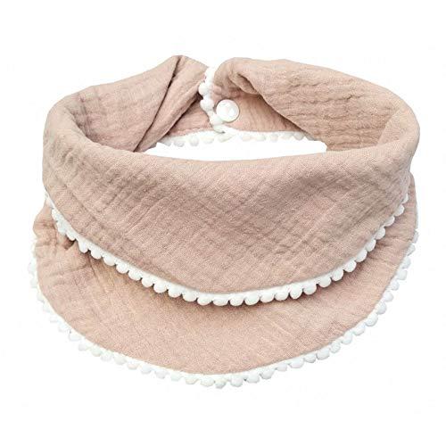 luosh - Baberos para bebés recién Nacidos, borlas de algodón, Toalla de alimentación de Saliva, Bufanda Triangular de Doble Capa