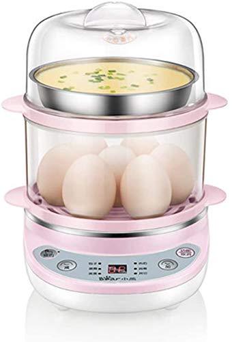 ZYLBDNB Hervidor de Huevos, hervidor de Huevos de 360 W, hervidor de Huevos eléctrico con Cuenco de Vapor y Taza medidora, Capacidad para 14 Huevos, Apagado automático (Color, A), A