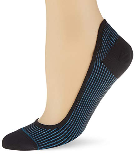 PUMA womens Women's Ribbed Footie (2 pack) Casual Sock, petrol blue, 39/42 (2er Pack)