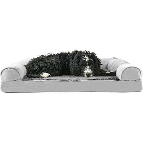 FurHaven Pet Dog Bed | Orthopedic Ultra Plush Sofa-Style Couch Pet Bed