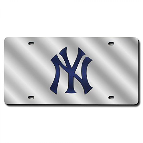 MLB New York Yankees (Silver) Laser-Cut Auto Tag