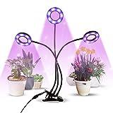 infinitoo LED Lampe de Plante, Lampe de Croissance à 3 Têtes 60 LEDs, Lampe...