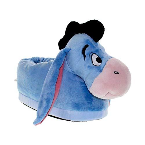 7013-3 - Disney Winnie The Pooh - Eeyore Slippers - Medium/Large - Happy Feet Mens and Womens Slippers
