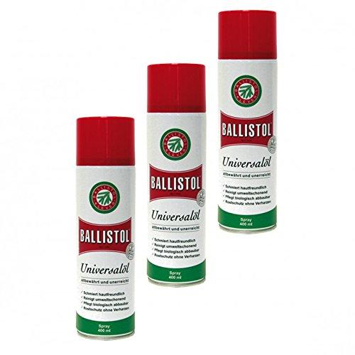 BALLISTOL Spray, 3 Dosen a 400 ml Waffenöl Kriechöl Pflegeöl 21810