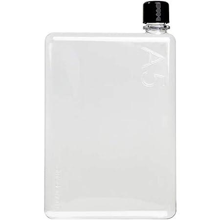 ノート型ボトル memobottle 再利用可能で平たいスリムなウォーターボトル(水筒) BPAフリープラスチック製 A5 (750ml)