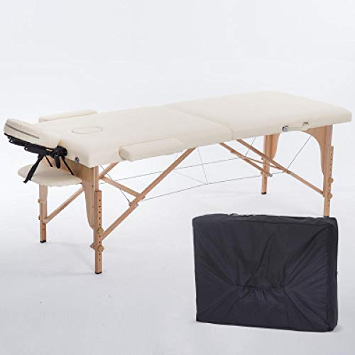 Review Foldable Beauty Bed 180 cm Long 60 cm Wide Portable Massage Bed Foldable with Bag