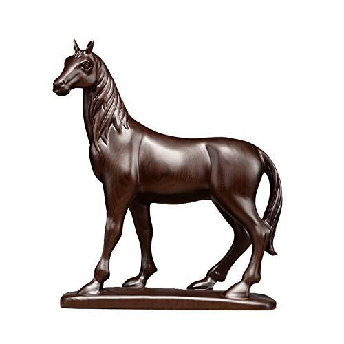 Accesorios de casa Zodiaco Chino Feng Shui Horse Statue Sculpture Home Office Decoration Decoración de la Mesa Adornos for la Riqueza y el éxito Buena Suerte Regalos Estatua de estatuas de Riqueza