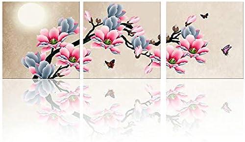 Venta en línea precio bajo descuento AWRT PaintingCanvas Picture Wall Picture Cocina Orquídea verde verde verde Impresión y Poster de Imagen Arte de impresión Flor Tipo T 60X60cmX3 Sin Marco  calidad oficial