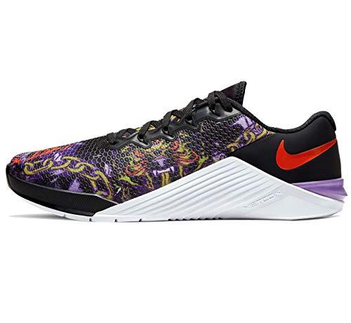 Nike Metcon 5 Men's Training Shoe Black/Bright Cactus-Purple Nebula-White Size 12