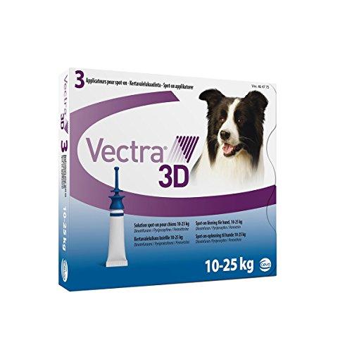 Vectra Vectra 3D Spot-on Soluzione 3 Pipette 3,6 Ml Cani da 10 a 25 Kg Blu