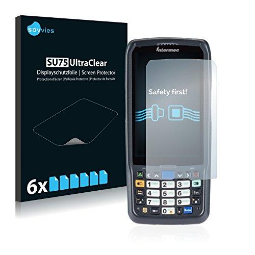 Savvies 6X Schutzfolie kompatibel mit Intermec CN51 Displayschutz-Folie Ultra-transparent