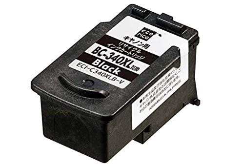 エコリカ キヤノン BC-340XL 対応リサイクルインクカートリッジ ブラック ECI-C340XLB-V