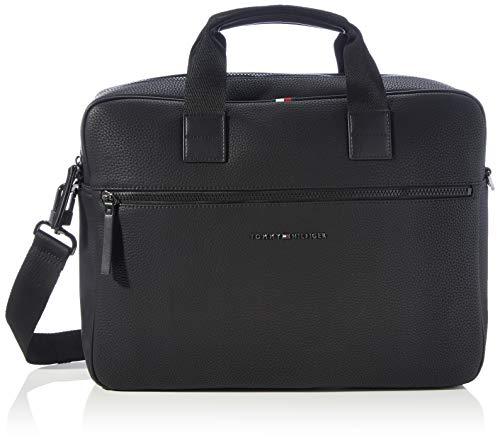 Tommy Hilfiger Herren ESSENTIAL COMPUTER BAG Taschen, Schwarz, One Size