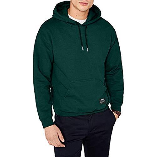 SELENECHEN Herren Sweatshirt Kapuzenpullover Sweatjacke Pullover Hoodie Sweat Hood (Green, M)