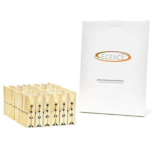 ECENCE Pinzas de bambú para la Ropa