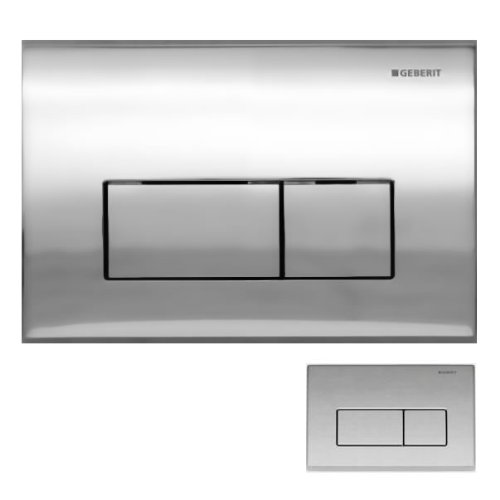 Geberit Kappa50 Dual Flush Push Button Plate 115.260.21.1 Gloss Chrome