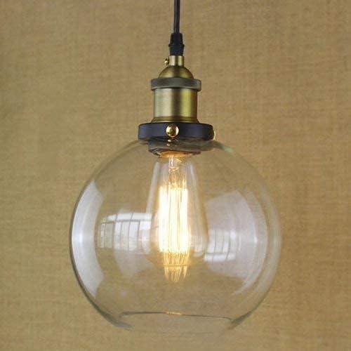 ZFB8B Lámpara Colgante Ajustable 20 cm Vintage Moderno Claro Campana Bell Shade Retro Indison Edison Colgante Colgante Luz de Techo Lámparas Loft Bar Cocina Isla Chandelier E27 Lámpara de Techo