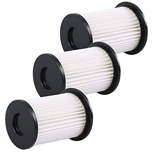 3 Hochwertige HEPA Filter - Für Akku Staubsauger CleanMaxx PC P008E und PC P009E passend - Wiederverwendbar aus umweltfreundlichem Material - Bestleistung beim Saugen
