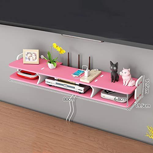 HJJ Tablettes flottantes Umweltfreundliche materialmontierte Medienkonsolen, wasserdicht und leicht zu reinigen, geeignet für Wohn- / Schlafzimmer/Wohnzimmer/Büro, einfach