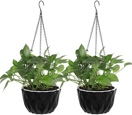 EBBCOWRY 2 Pack 10 Self Watering Hanging Planters Wall Hanging Basket Flower Plant Pots with product image