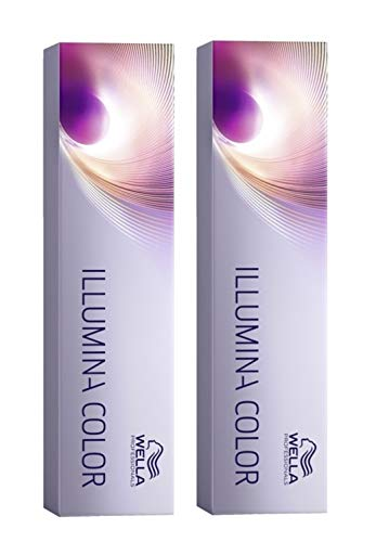 Wella 2x Illumina Color 10/69 Hell-Lichtblond Violett-Cendre 60 Ml