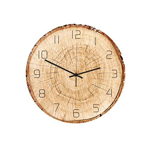 Healifty Rustic Acrylic Wall Clock no Ticking Silent no Ticking Decorative Wall Clock for Bedroom Living Room Office Decoration no Battery (Acrylic)