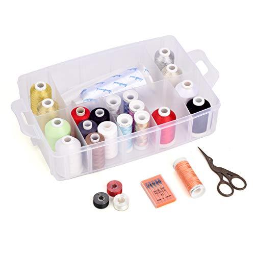 Simthread Maschinenstickgarn und Baumwollnähgarn Organizer Aufbewahrung Box für Stickereien und Nähen