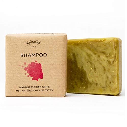 Rasierseife von Maisoap – natürlich handgerührte Naturseife mit biologischen Stoffen zur täglichen Gesichts- und Körperpflege – Bio Naturkosmetik Seife aus einer kleinen Familienmanufaktur (Shampoo)