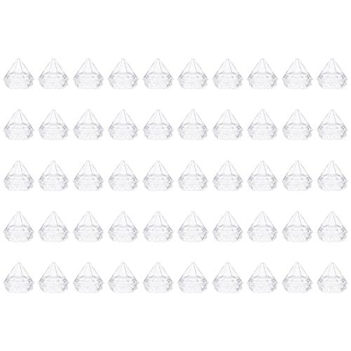 Minkissy 50 Unidades 5G Tarros Transparentes en Forma de Diamante Frascos de Muestra Cosméticos Recargables Vacíos Tarro de Plástico para Maquillaje con Tapa Estuche de Prueba Cosmético