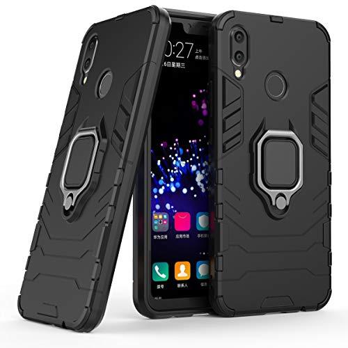 Cocomii Black Panther Armor Huawei Nova 3i/P Smart+ Plus Funda Nuevo [Robusto] Anillo Metálico Soporte [Funciona con El Montaje De Coche Magnético] Case Carcasa for Huawei Nova 3i (B.Jet Black)