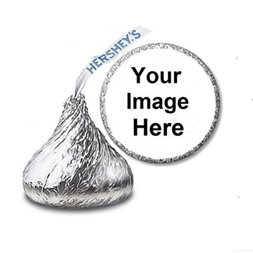 JS&B Enterprises 108 Custom Personalized Labels/Stickers for Hershey's Kisses Candies - Party Favors