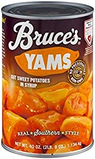 Bruce's Yams, Sweet Potatoes in Syrup, 40 oz can (4 pack)