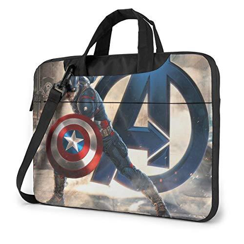Avenger Superhero Shield Laptop Sleeve Case Handheld One Shoulder Shockproof Oxford Protective Case/Notebook Computer Pocket Case/Tablet Briefcase Carrying Bag Compatible-15.6 inch