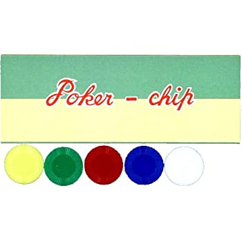 【POKER CHIP P-22】プラスチック製ポーカーチップ 5色組み100枚セット