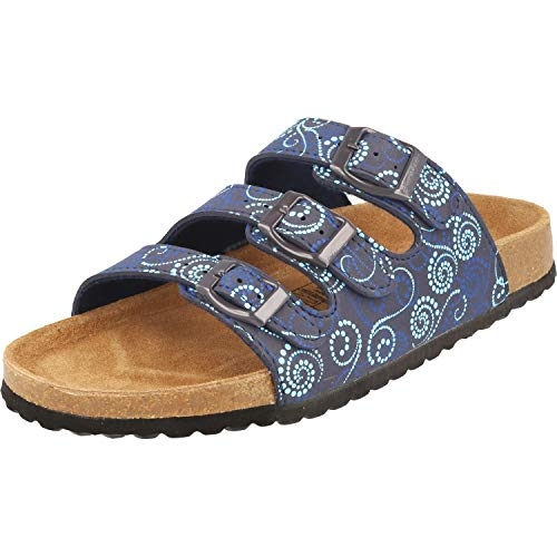 Supersoft Damen 274 138 Pantoletten, Blau (Blue Multi 897), 39 EU