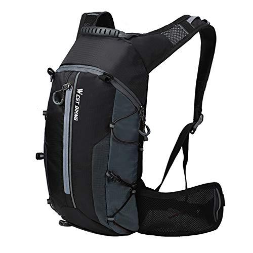 Lixada 10L Kleiner Fahrradrucksack Wasserdichter Hydration Rucksack für Wandern Klettern, Fahrradfahren, Laufsport, Camping Sportrucksack Ultraleicht Fahrrad Rücksack