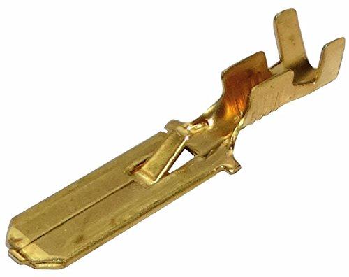 Aerzetix: 100 x Kabelschuhe Kabelschuh ( Klemme ) männlich, flach 6.3mm 0.8mm 0.75-2mm2