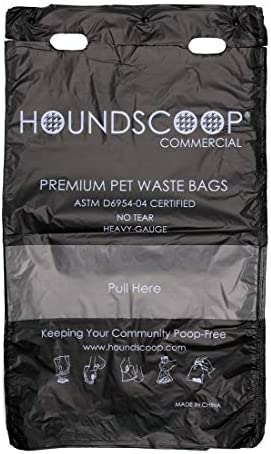 HOUNDSCOOP 800 Count Pull Strap Header Pet Waste Bags 8 Header Packs of 100 Bags Dog Waste Station product image