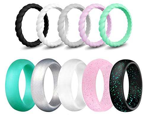 SkullParty Silicone Wedding Ring Bands for Women