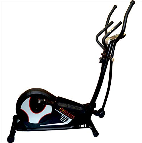 WECARE Indoor Air Bike Exercise Cycle with Dual Moving Arms for Home Gym Cardio Full Body Weight...