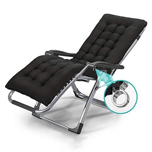 Haaemy Zero Gravity Chair Sillón Plegable Oficina Ajustable Butaca Balcon Tumbonas Al Aire Libre Silla De Jardín Playa, Cojín Extraíble