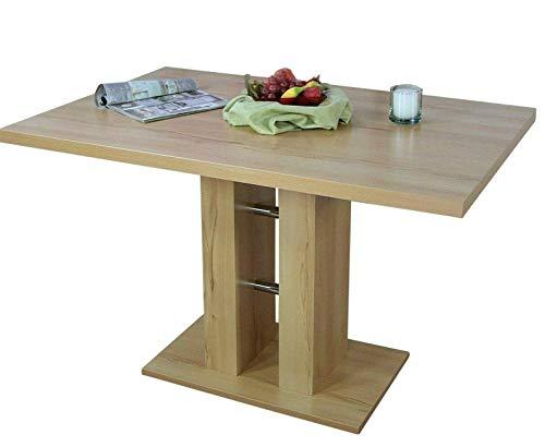 BJYX Esstisch 8 Farben Esszimmertisch Küchentisch Säulentisch Wohnzimmertisch Tisch (Color : Eiche San Remo Rustic)