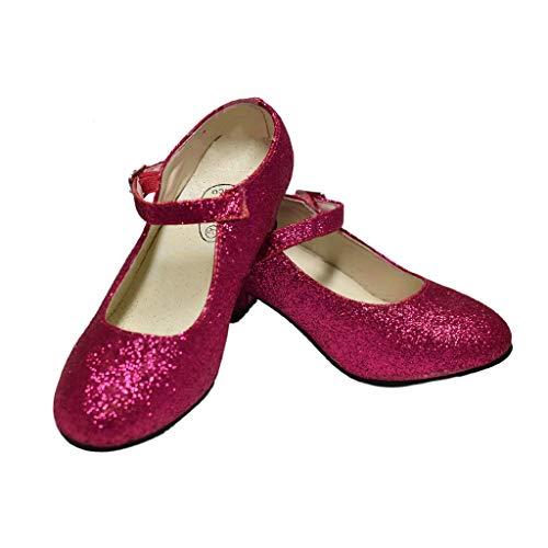 Costumizate - Scarpe da ballerina e fenicotteri con diverse taglie, da bambina a donna, colore fucsia con glitter Rosa Size: 36 EU