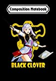 Composition Notebook: Retro Clover Distressed Art Black Outfits Anime Manga Series, Journal 6 x 9, 100 Page Blank Lined Paperback Journal/Notebook