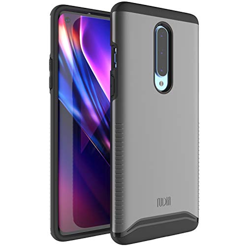 TUDIA Rugged Drop Protection Merge Series Designed for OnePlus 8 Case, V2 Dual Layer Heavy Duty Phone Case Cover for OnePlus 8 [NOT Compatible with Verizon Version] (Metallic Slate)