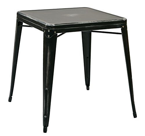 Work Smart/OSP Designs Bristow Metal Table, Antique Black