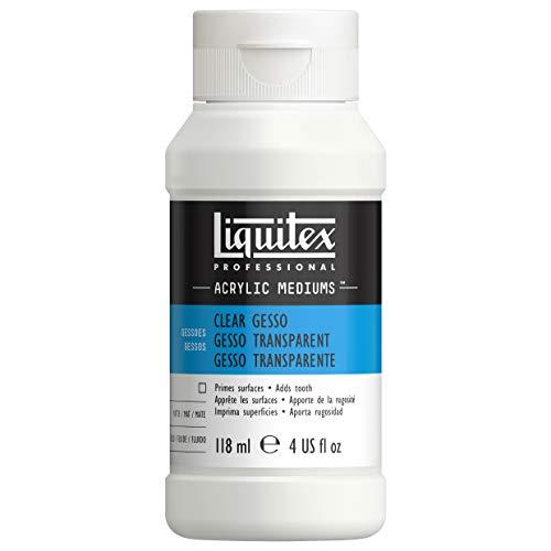 Liquitex 7604 Professional klares Gesso, Universalgrundierung für Acrylfarben, licht und alterungsbeständiger Primer, gebrauchsfertig - 118ml Flasche, transparent