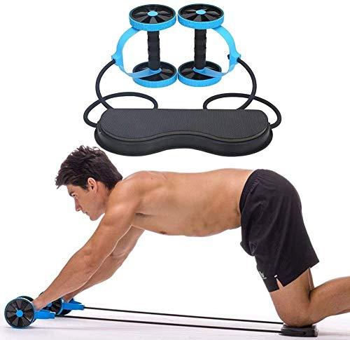 Granty Bauchtrainer Ab Roller, Bauchmuskeln,Portable Sport Core Double AB Power AB Roller AB Rad Fitness Bauch Übungen Ausrüstung