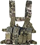 Tactical Chest Rig w/ Rifle, Pistol Mag Pouches, Radio Pouch Chest X Harness
