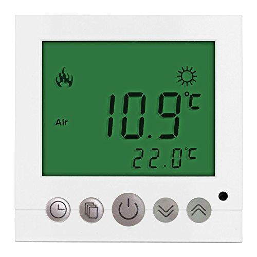 DASKOO C16.GH3 7 días programables Termostato de calefacción con LCD digital PC material para la oficina de la escuela en casa área de negocios